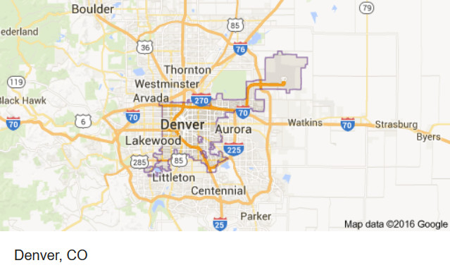 Surrounding cities of Denver CO